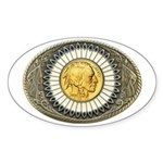 Indian gold oval 3 Sticker (Oval)
