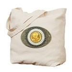 Indian gold oval 3 Tote Bag