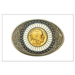 Indian gold oval 3 Large Poster