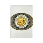 Indian gold oval 3 Rectangle Magnet (100 pack)