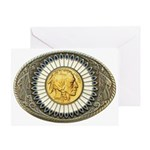 Indian gold oval 3 Greeting Card