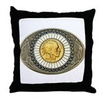 Indian gold oval 3 Throw Pillow