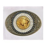 Indian gold oval 3 Throw Blanket
