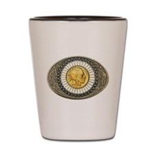 Indian gold oval 3 Shot Glass