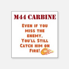 "M44 Carbine Square Sticker 3"" x 3"""