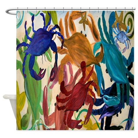 CafePress Crab Party Shower Curtain