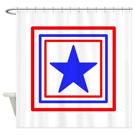 Red White And Blue Star Shower Curtain By