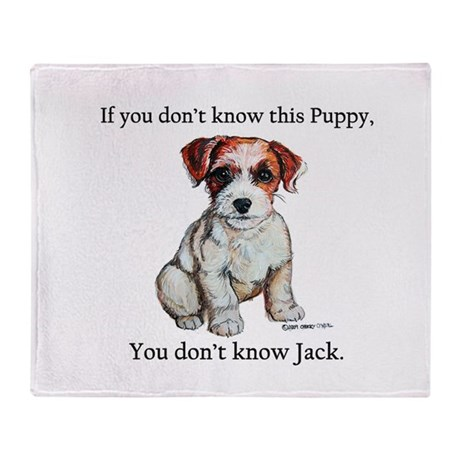 Don't Know Jack Russell Throw Blanket