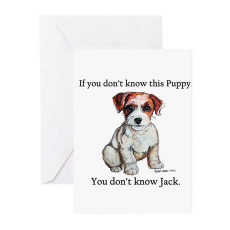 Don't Know Jack Russell Greeting Cards (Pk of 10)