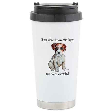 Don't Know Jack Russell Stainless Steel Travel Mug