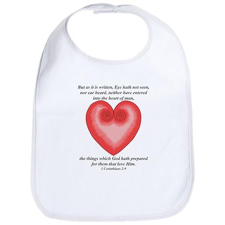 For them that Love Him / Heart Bib