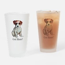 Jack Russell Shoes Drinking Glass