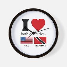 USA-TRINIDAD Wall Clock