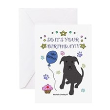 Happy Birthday from Pit Bull Greeting Card
