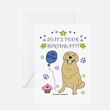 Happy Birthday from Golden Retriever Greeting Card