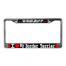 NB_Border Terrier License Plate Frame