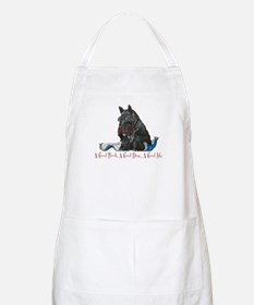 Scottish Terrier Book Apron