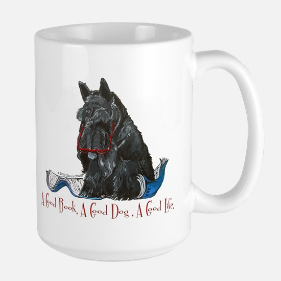 Scottish Terrier Book Large Mug