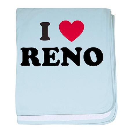 I Love Reno Nevada baby blanket