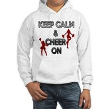 """KEEP CALM, CHEER ON"" Hoodie"