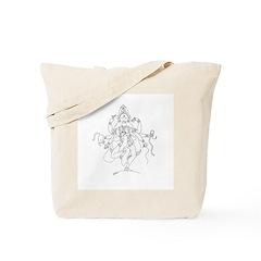 Knitting Kali Tote Bag