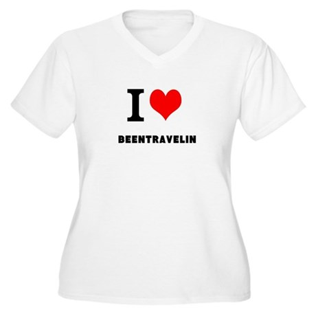 I love beentravelin Women's Plus Size V-Neck T-Shi