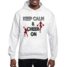 """""""KEEP CALM, CHEER ON"""" Hoodie"""