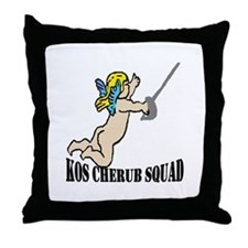 Cherub Squad! Throw Pillow
