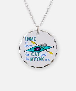 Cat and Kayak Necklace