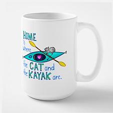 Cat and Kayak Coffee Mug