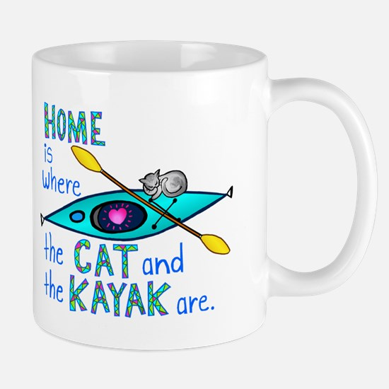 Cat and Kayak Mug
