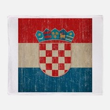 Vintage Croatia Throw Blanket