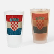 Vintage Croatia Drinking Glass