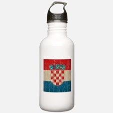 Vintage Croatia Water Bottle