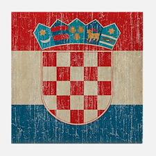 Vintage Croatia Tile Coaster