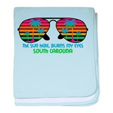 Sun Here Burns My Eyes_Beach_SC.png baby blanket