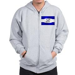 Honduras Flag Zip Hoodie