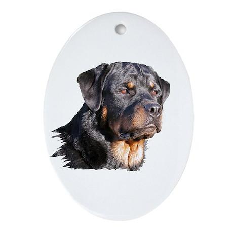 Rottweiler Oval Ornament