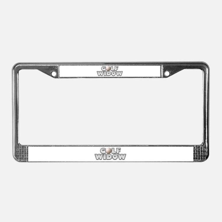 Golf Widow License Plate Frame