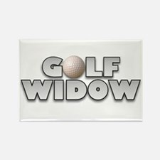 Golf Widow Rectangle Magnet