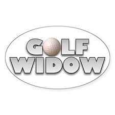 Golf Widow Oval Decal