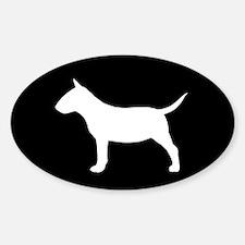 Mini Bull Terrier Sticker (Oval)