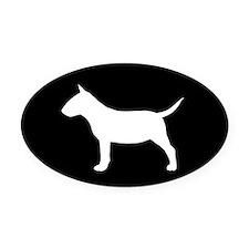 Mini Bull Terrier Oval Car Magnet