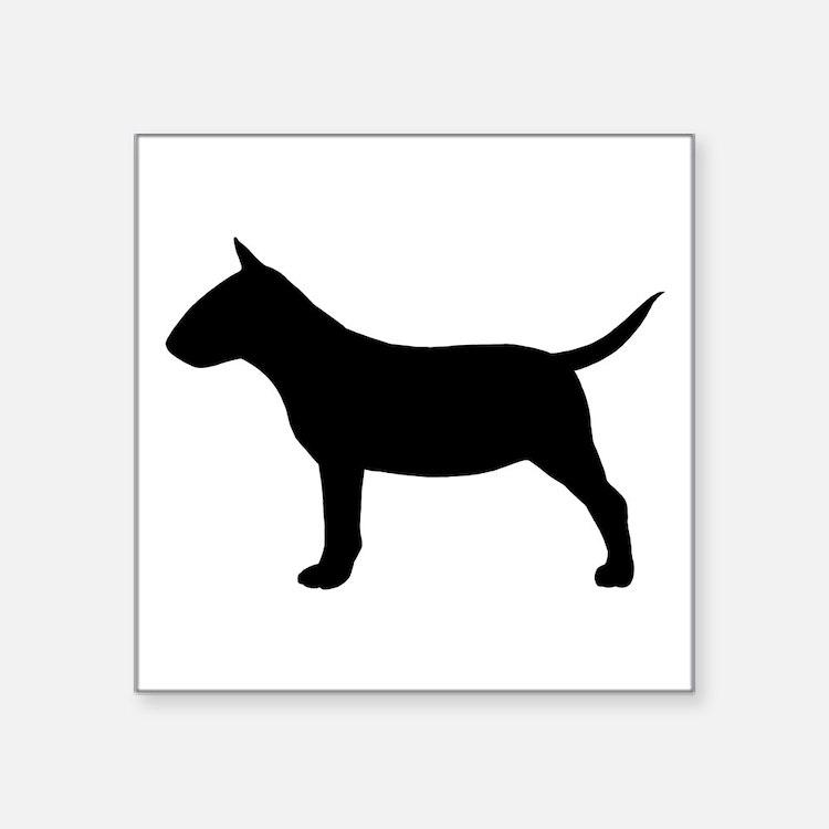 "Mini Bull Terrier Square Sticker 3"" x 3"""
