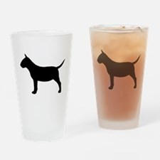 Mini Bull Terrier Drinking Glass