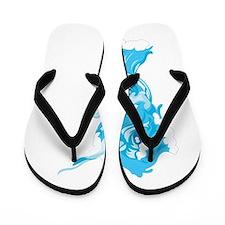 Water Element Narwhal Flip Flops