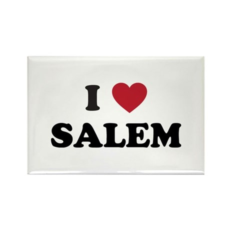 I Love Salem Oregon Rectangle Magnet