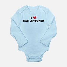 I Love San Antonio Texas Long Sleeve Infant Bodysu