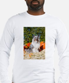 St Patrick's Day Sheltie puppies Long Sleeve Tee