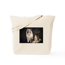 Sheltie puppies & harp Tote Bag